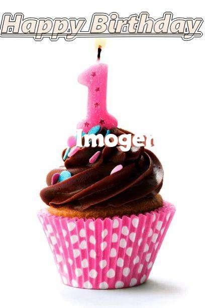 Happy Birthday Imogen Cake Image