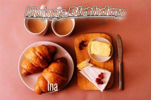 Happy Birthday Wishes for Ina