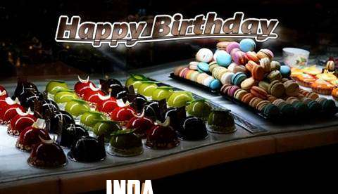 Happy Birthday Cake for Inda