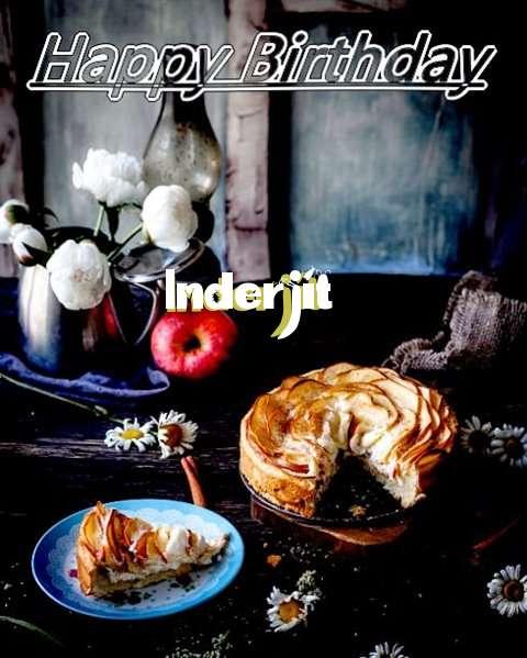Happy Birthday Inderjit Cake Image