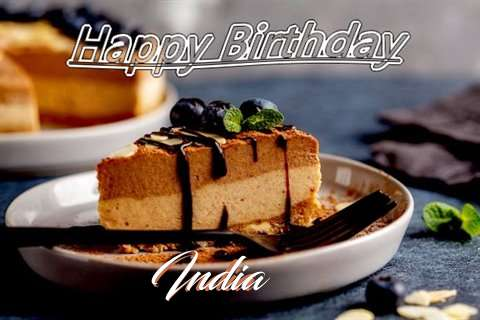 Happy Birthday India Cake Image