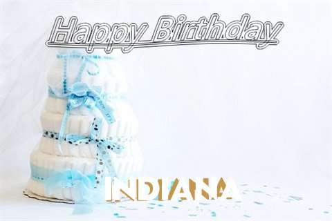 Happy Birthday Indiana Cake Image