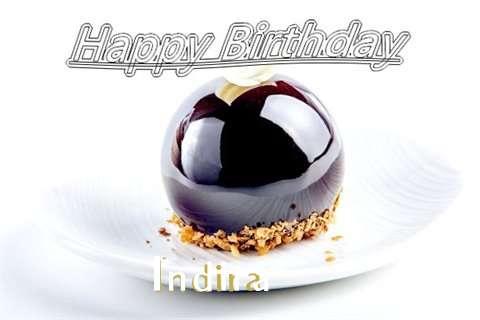 Happy Birthday Cake for Indira