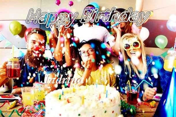 Happy Birthday Indrina Cake Image