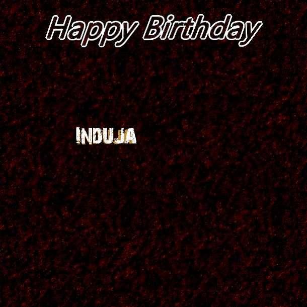 Happy Birthday Induja Cake Image