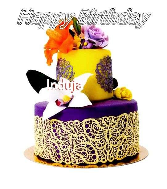 Happy Birthday Cake for Induja