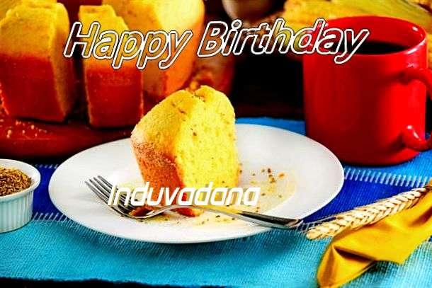 Happy Birthday Induvadana Cake Image