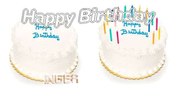 Happy Birthday Inger Cake Image