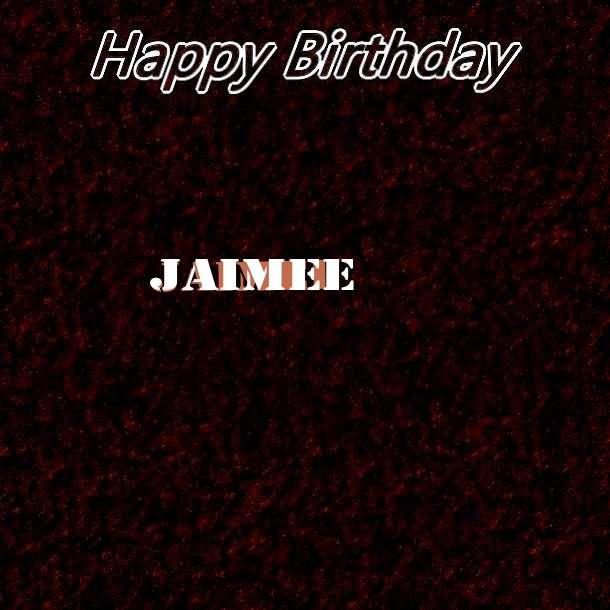 Happy Birthday Jaimee Cake Image