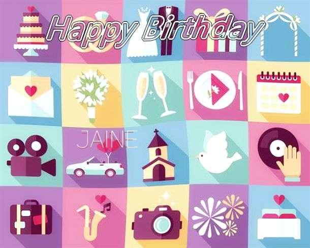 Happy Birthday Jaine Cake Image