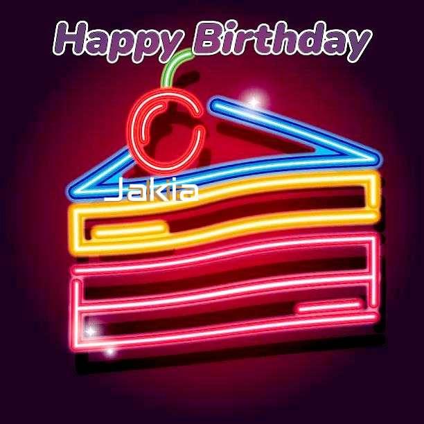Happy Birthday Jakia Cake Image