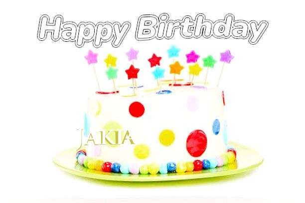 Happy Birthday Cake for Jakia