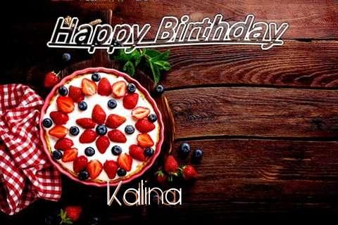 Happy Birthday Kalina Cake Image