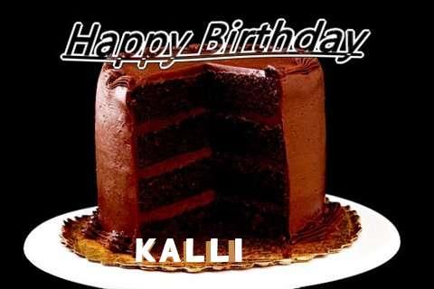 Happy Birthday Kalli Cake Image