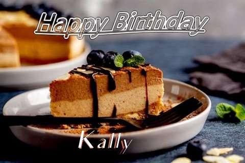 Happy Birthday Kally Cake Image