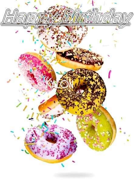 Happy Birthday Kalon Cake Image
