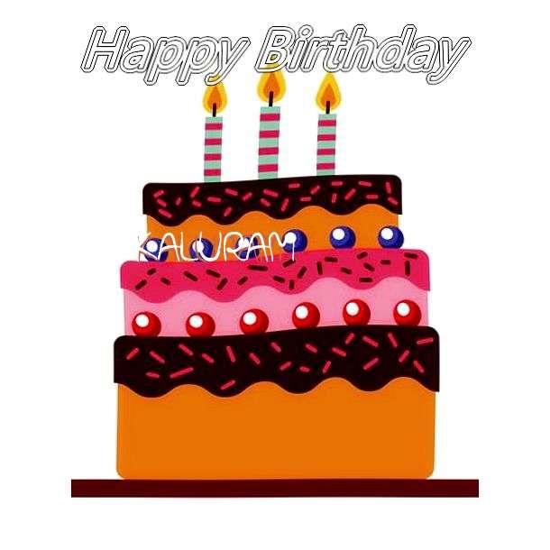 Happy Birthday Kaluram Cake Image