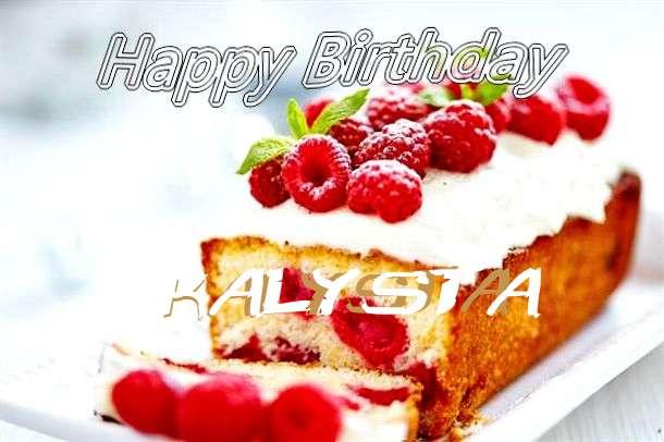 Happy Birthday Kalysta Cake Image