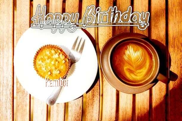 Happy Birthday Kamber Cake Image