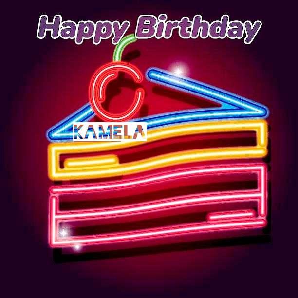 Happy Birthday Kamela Cake Image