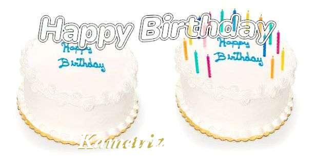 Happy Birthday Kametria Cake Image