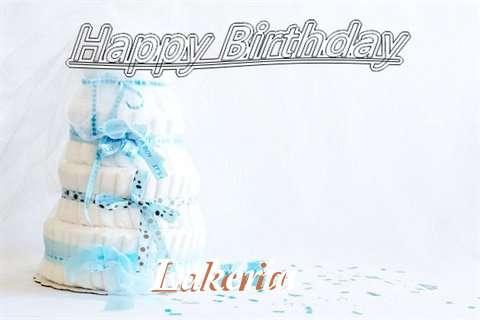 Happy Birthday Lakeria Cake Image