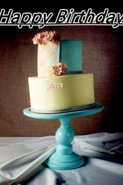 Happy Birthday Cake for Lakesia