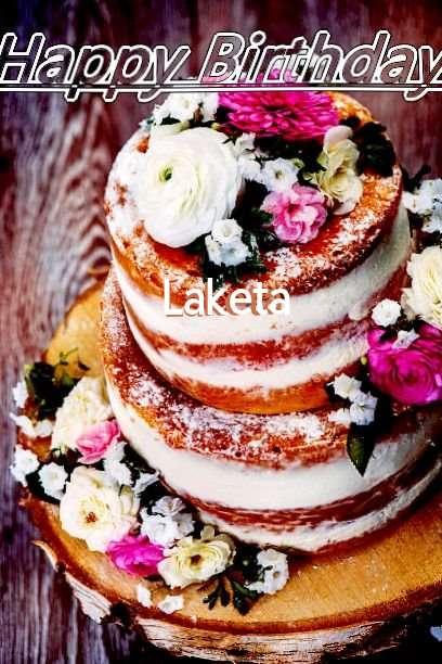 Happy Birthday Cake for Laketa