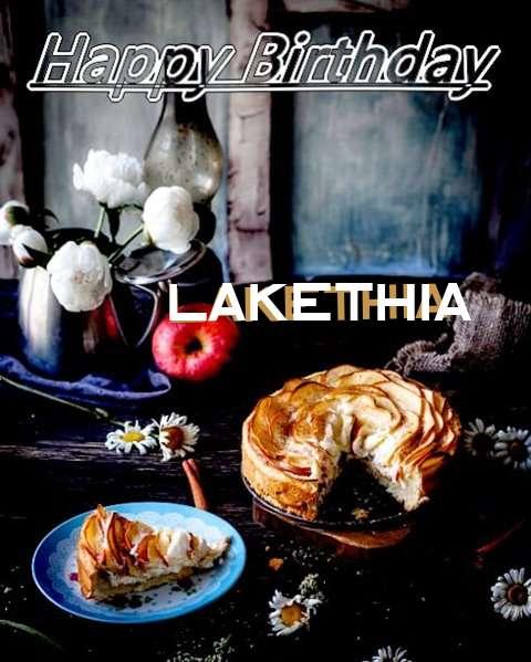 Happy Birthday Lakethia Cake Image