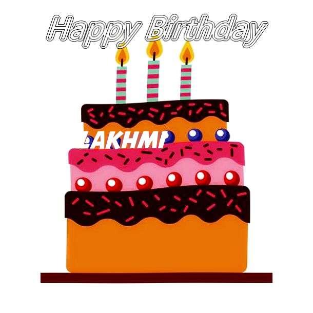 Happy Birthday Lakhmi Cake Image