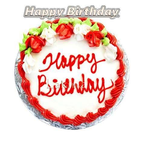 Happy Birthday Cake for Lakina