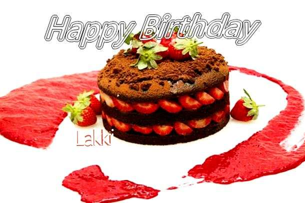 Happy Birthday Lakki Cake Image