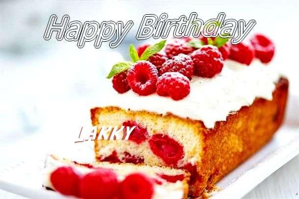 Happy Birthday Lakky Cake Image