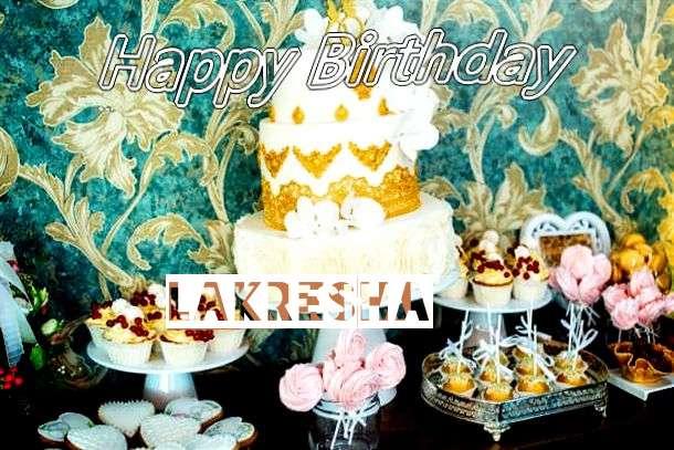 Happy Birthday Lakresha Cake Image