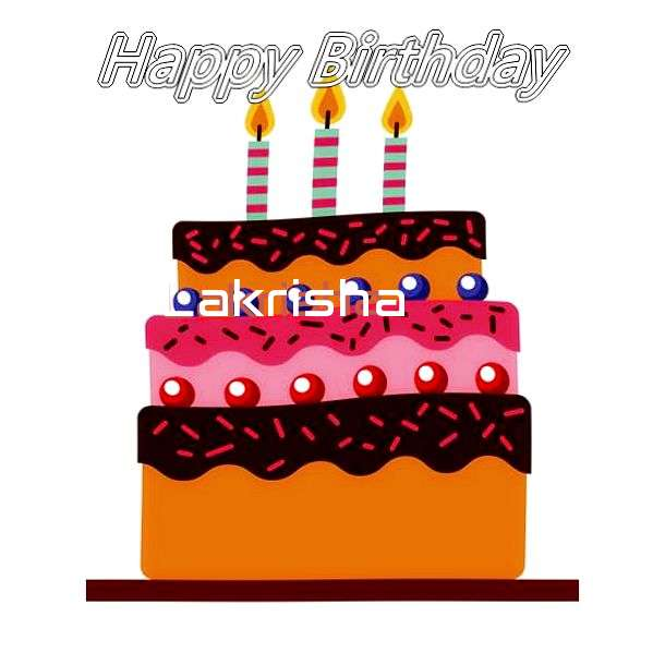 Happy Birthday Lakrisha Cake Image