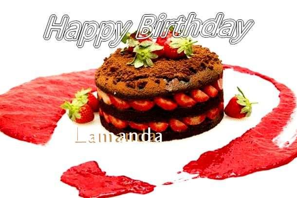 Happy Birthday Lamanda Cake Image