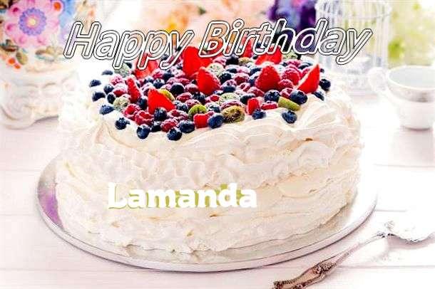 Happy Birthday to You Lamanda