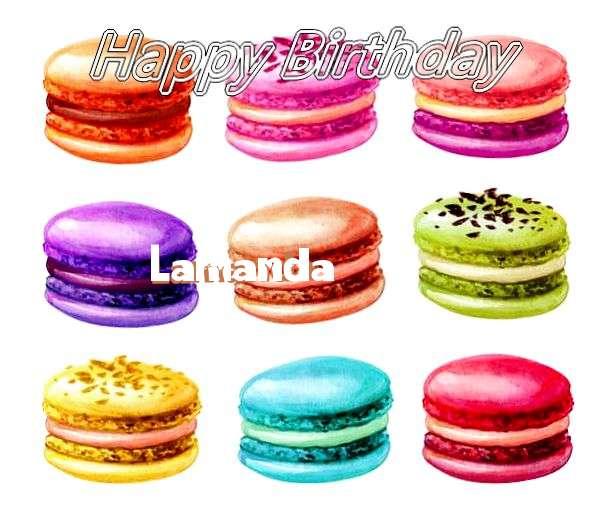 Happy Birthday Cake for Lamanda