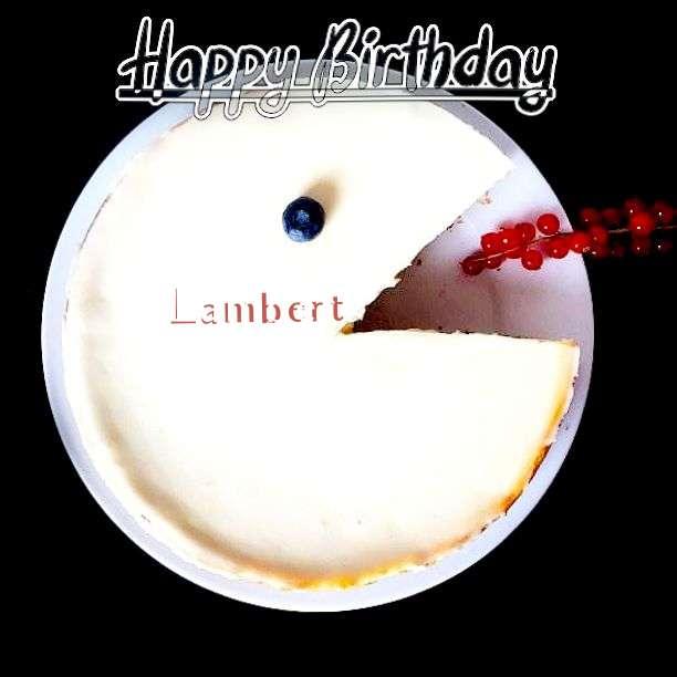 Happy Birthday Lambert