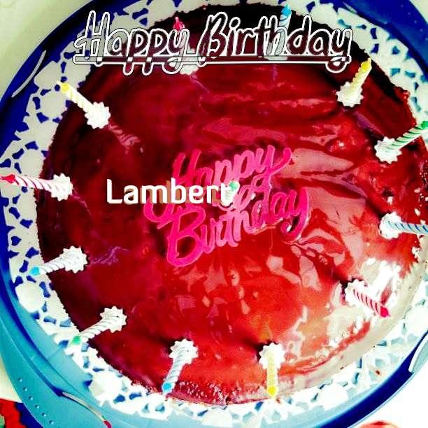 Happy Birthday Wishes for Lambert