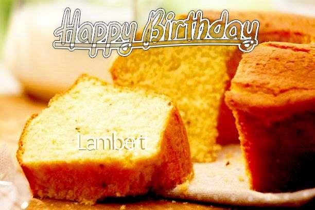 Happy Birthday Cake for Lambert