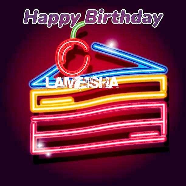 Happy Birthday Lameisha Cake Image