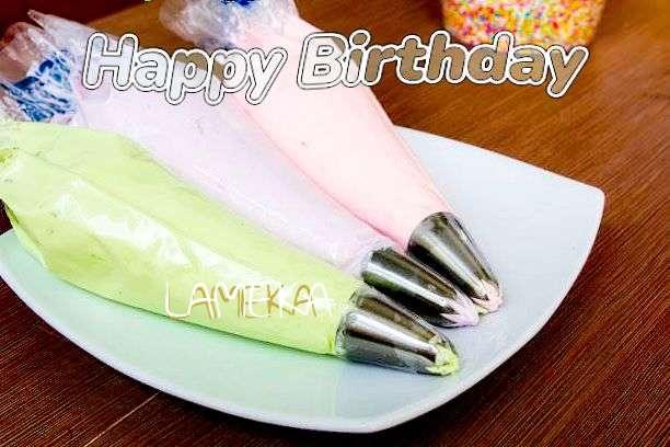 Happy Birthday Lameka Cake Image