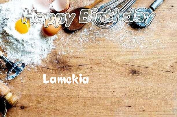 Happy Birthday Cake for Lamekia