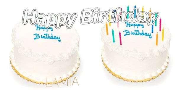 Happy Birthday Lamia Cake Image