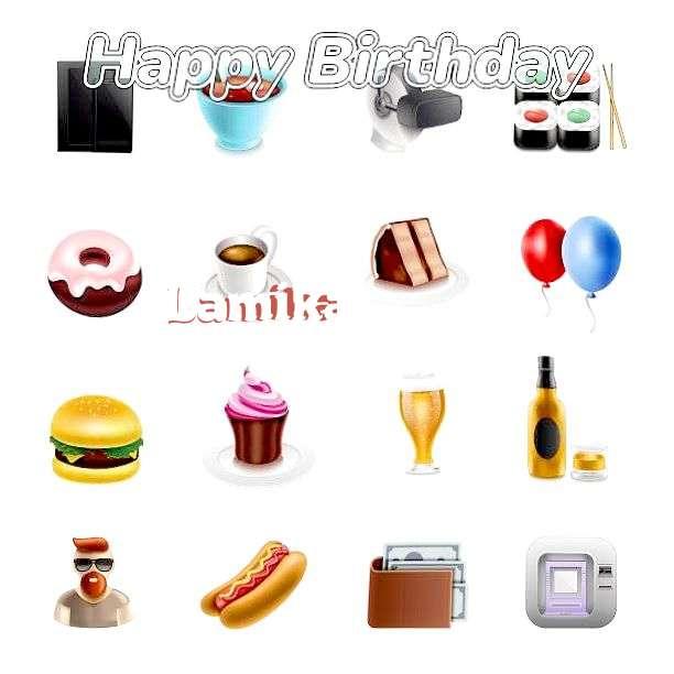Happy Birthday Lamika Cake Image