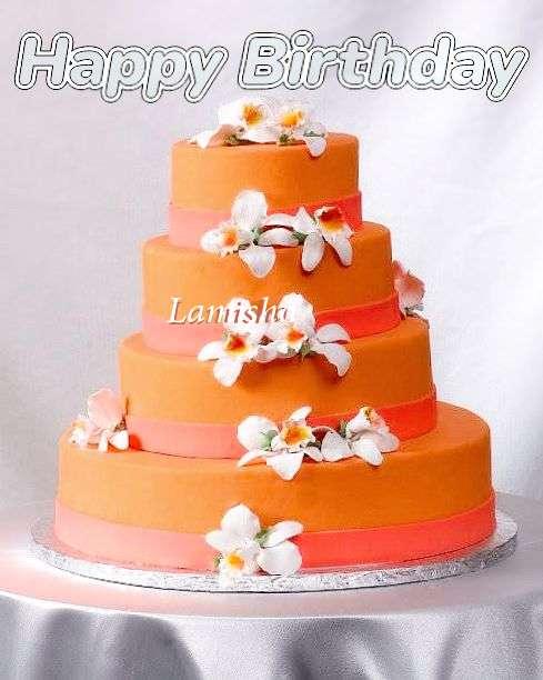 Happy Birthday Lamisha Cake Image