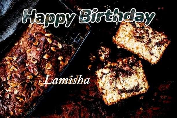Happy Birthday Cake for Lamisha