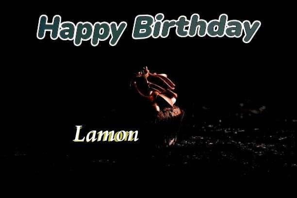 Happy Birthday Lamon Cake Image