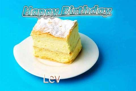 Happy Birthday Lev Cake Image